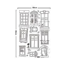window pencil drawing. free shipping home decor mural vinyl wall sticker black pencil drawings windows kids nursery room art decal paper-in stickers from \u0026 garden window drawing h