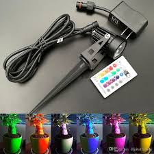 Rgb Led Landscape Lighting 2019 Outdoor Led Garden Light 3w5w Rgb Lawn Lamp Wireless Ir Remote Control Include Power Adapter Ground Rod For Landscape Lighting Dc12v From