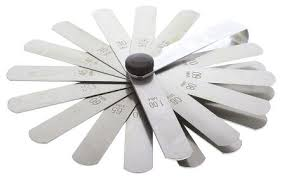 feeler gauge. rs pro ce3112 steel feeler gauge, 25 blades gauge 0