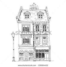 architectural drawings of famous buildings. Unique Drawings Old English Town Houses With Shops On The Ground Floor Sketch Collection  Of Famous Buildings With Architectural Drawings Of Famous Buildings A
