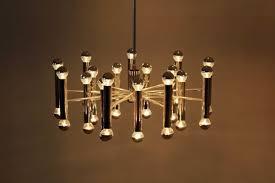 large vintage chrome sputnik chandelier from doria 1