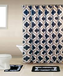home dynamix bath boutique shower curtain and bath rug set bq04 lattice gray black bath boutique collection shower accessories set shower curtain sets