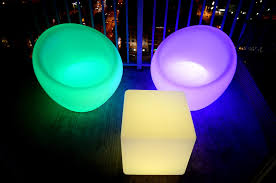 led cube light up decor furniture