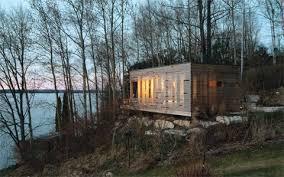 Small Picture Prefab Modern Cabin 24 Wondrous Ideas Sunset Cabin A Primitive Hut