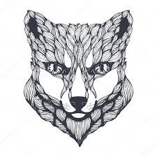 лиса белая арт арт белая лиса черно белая лиса векторное