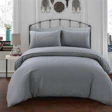 luxury designer waffle duvet cover set bedding grey