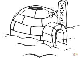 Small Picture Icehouse coloring page Free Printable Coloring Pages
