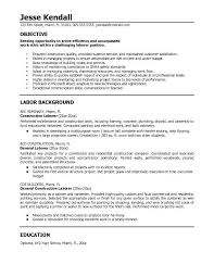 Construction Worker Resume Awesome 8617 Construction Objective For Resume Nice Construction Job Resume