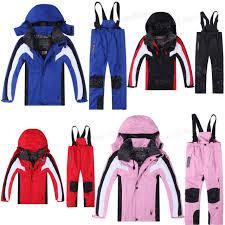 Kids Winter Waterproof Outdoor Coat Pants Ski Suit Jacket Snowsuits Snowboard
