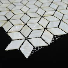 2018 diamond mother of pearl tiles white mosaic tile backsplash rhombus kitchen bathroom shell decor tile mirror shower wall floor from listener
