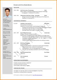 Curriculum Cv English Example Pdf Vitae English Example Pdf