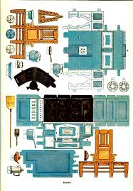 Printable paper dollhouse and furniture from the Japanese site