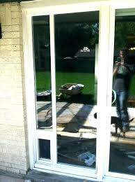 sliding screen door with dog home depot patio insert how to install a d patio pet door insert