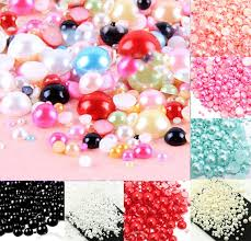 <b>500Pcs Mixed 2 10mm Colorful</b> Half Round Pearl Beads Craft ...