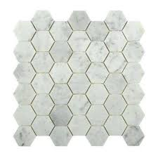 L Hexagon White Carrera 12 In X 8 Mm Floor And Wall