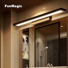 <b>Nordic Modern Minimalism LED</b> Bathroom Mirror Front Light Wall ...