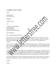 Complaint Letters To Airlines Samples Quick Resume Help