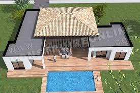 plan de maison moderne plain pied template 7