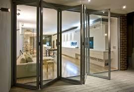sliding folding glass doors single pane