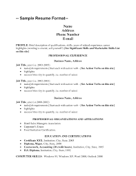 Resume Format View Sample Example Basic For Fresh Graduates Two