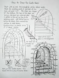 how to draw stone stairs because we all need to have at least one castle scene am i right