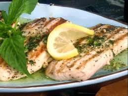 seared mahi mahi with zesty basil er recipe jamie deen food network