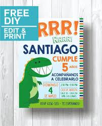 free dinosaur party invitations dinosaur party invitations cute party printables