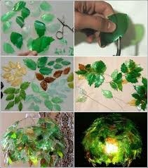 image source eco port to make this amazing leaf chandelier