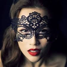 y black fancy dress lace eye mask venetian mask masquerade ball prom makeup costume party