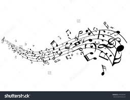 Stave Music Stave With Music Notes Vector Melody Isolated Decoration