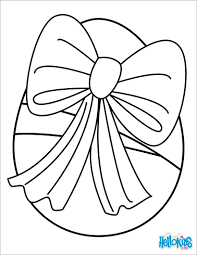 Egg With Ribbon Coloring Pages Hellokids Com
