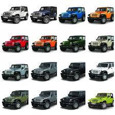 2015 Jeep Wrangler Color Chart 2015 Jeep Wrangler Colors