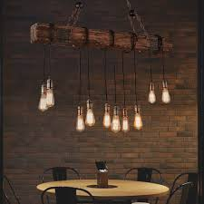 10 lights antique farmhouse wood beam island hanging pendant light chandelier