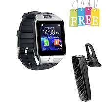 Padraig Oppo 4G Compatible Bluetooth DZ09 Silver Phone with Camera and SIM Card Support Smartwatch Mobile Watch: Buy Watch Online at Best Prices in India