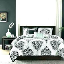 damask black bedding and white sheet sets bedroom elegant