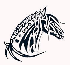 tribal horse head clip art. Unique Art Horse Tribal Art On Head Clip Art L