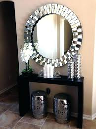 entrance table with mirror round hallway table hallway mirror ideas wall mirror ideas best large round entrance table