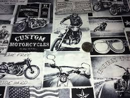 Motorcycle Fabric 1 Yard Biker Lane News Fine Quilt Fabric & Like this item? Adamdwight.com