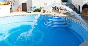 refilling a pool with fresh water