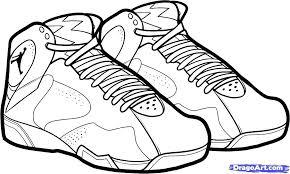 Shoes Coloring Pages Jordan Shoes Coloring Pages Shoes Coloring