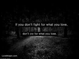 Fighting For Love Quotes Stunning If You Dont Fight For What You Love Pictures Photos And Images For