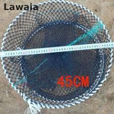 <b>Lawaia</b> Crab Cage Rubber <b>Fly Fishing</b> Net Fishing Folding Cast Net ...