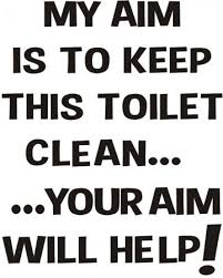 Printable Keep Bathroom Clean Signs