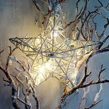 Leuchtstern Weihnachtsstern Deko Stern Beleuchtet 20cm