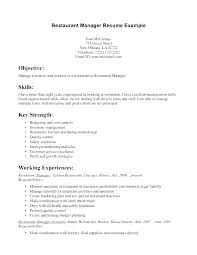 Fast Food Restaurant Manager Resume Kitchen Manager Job Description Expatadventure Org