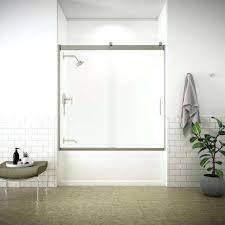 semi sliding tub door in nickel kohler bathtub doors frameless shower home depot n home semi depot custom tub bathtub doors