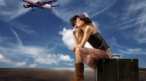 Картинки по запросу чемодан девушка