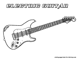 secrets guitar colouring pages free printable coloring page for your kids