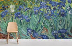 irises by van gogh wall mural room