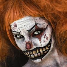 nightmare at the circus evil clown makeup by elvis schmoulianoff model teilia smith photography by donatella parisini